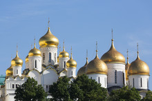 Cathedral Of The Annunciation In The Kremlin, Moscow, Russia