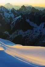 Aiguille Du Midi Sunrise, Chamonix, Rhone Alps, Haute Savoie, France