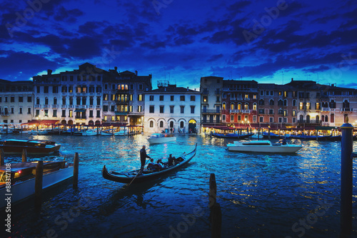 Photo sur Aluminium Venise Grand Canal in sunset time, Venice, Italy
