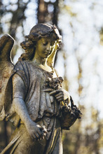 Statue Of Woman Angel, Highgate Cemetery West, London