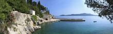 Panorama Of Rocky Coast And Harbour, Trsteno, Dubrovnik, Croatia