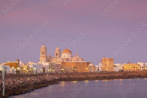 Church of Santa Cruz and Cathedral, Cadiz, Cadiz Province, Andalucia, Spain, Europe
