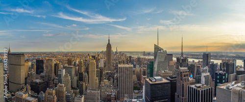 Fotografie, Obraz  New York City downtown skyline in the afternoon from rockefeller