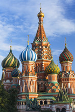 St. Basils Cathedral In Red Square, Moscow, Russia