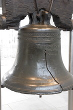 The Liberty Bell Rung In July 1776 From The Tower Of Independence Hall On The Occasion Of The First Public Reading Of The Declaration Of Independence, Philadelphia, Pennsylvania