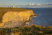 Nash Point Lighthouse, Vale Of Glamorgan, Wales