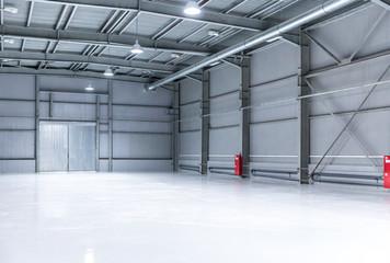 Modern storehouse, background for industry