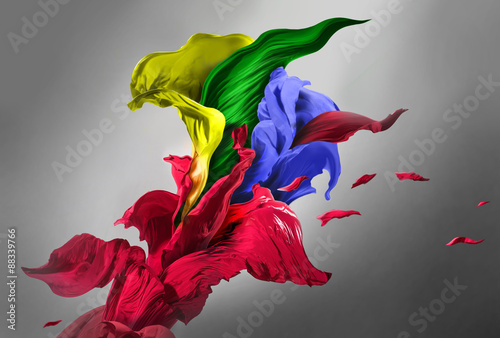 Foto op Aluminium Stof Drapery fabrics of different color