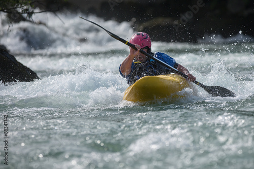 White water paddler