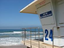 Lifeguard Tower Overlooking Ocean