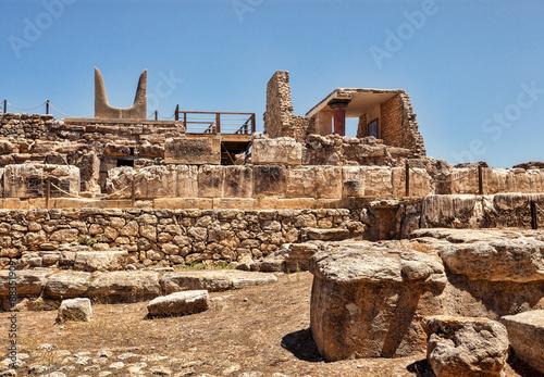 Details of Knossos palace. Heraklion, Crete, Greece. Fotobehang
