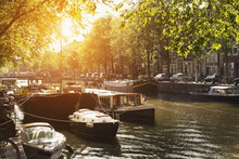 Sunlit Canal, Amsterdam, The Netherlands