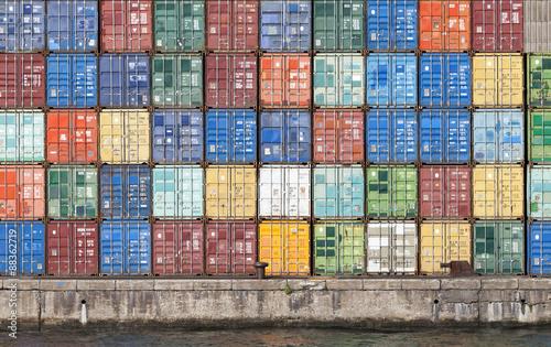 Pinturas sobre lienzo  Container im Hafen von Antwerpen, Belgien