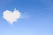 Leinwandbild Motiv Herz Wolken