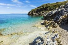 Lovely Limestone Cove At Zingaro Nature Reserve Near Scopello On This Beautiful North Western Coastline, Scopello, Sicily, Mediterranean