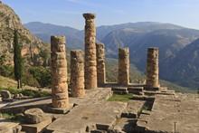 Temple Of Apollo, Delphi, Peloponnese, Greece