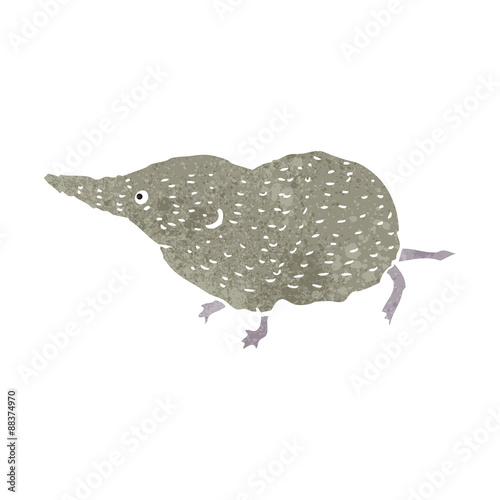 Fotografie, Obraz  retro cartoon shrew