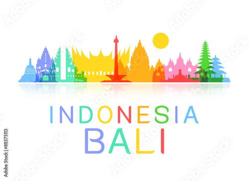 Fotografía  Indonesia Travel Landmarks.