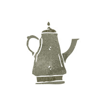 Retro Cartoon Coffee Pot