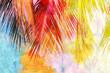 canvas print picture - Watercolor palm leaf