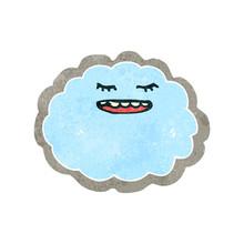 Retro Cartoon Cloud With Silver Lining
