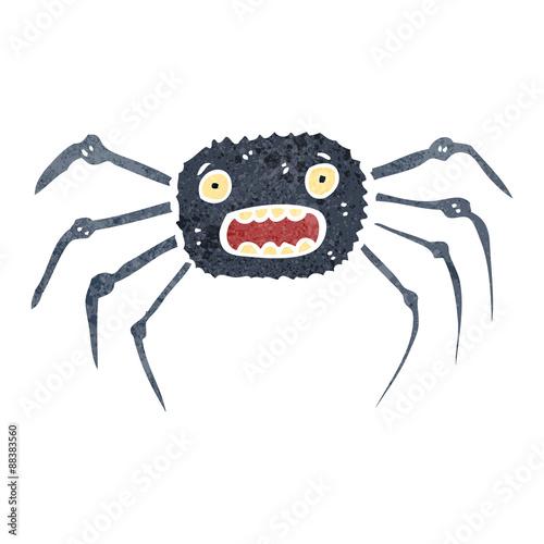 Fotobehang Draw retro cartoon spider