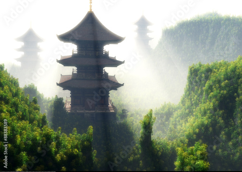 Chinese home Canvas Print