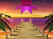 Summer Holidays Evening Background.
