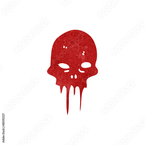 Printed kitchen splashbacks Watercolor skull retro cartoon melting skull