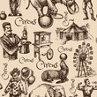 Hand drawn sketch circus and amusement vector illustration