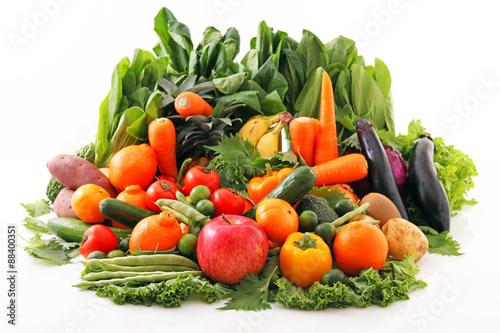 Fotografie, Obraz  新鮮な野菜と果物
