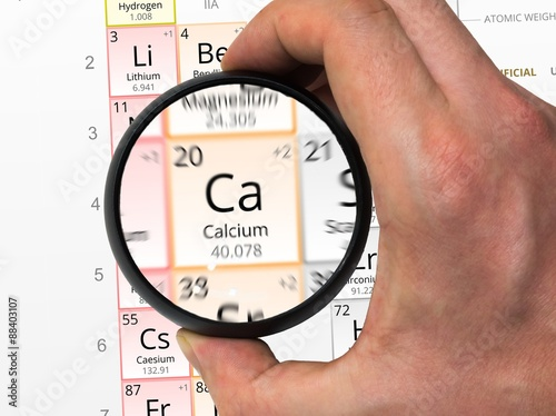 Calcium Symbol Ca Element Of The Periodic Table Zoomed With M