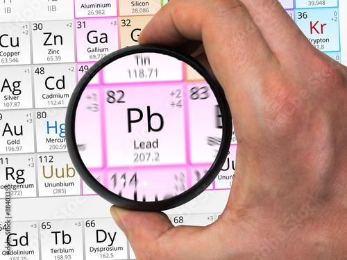 Lead symbol pb element of the periodic table zoomed with magn lead symbol pb element of the periodic table zoomed with magn urtaz Images