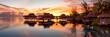 canvas print picture - Bora Bora Sonnenuntergang Panorama