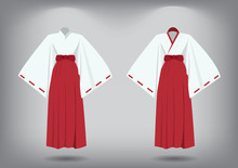 Set Of Miko Suit, Traditional ...