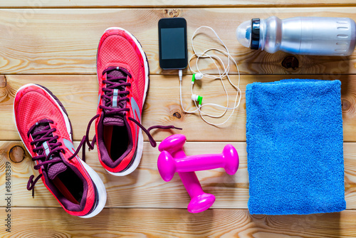 Fotografia  photography on the floor objects for sports