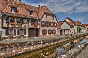 France, the picturesque city of Wissembourg in Bas Rhin