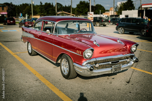 Wall Murals Old cars Beautiful gorgeous view of classic retro vintage amazing car