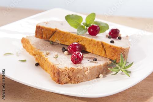Cadres-photo bureau Dessert pate with cranberries