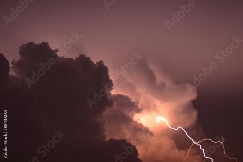 Fulmine tra le nubi Poster