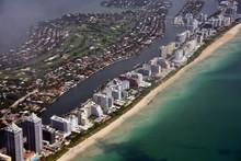 South Florida Beaches Aerial View