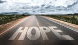 Hope written on rural road