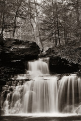FototapetaWaterfalls in black and white
