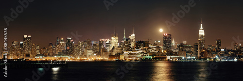 Moon Rise Manhattan #88445576
