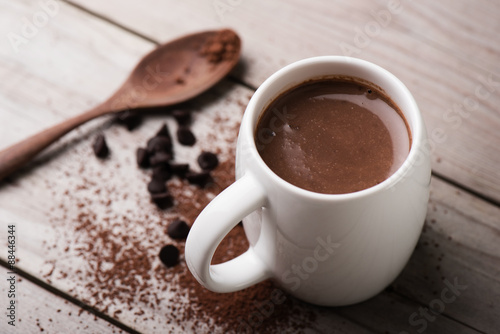 Staande foto Chocolade hot chocolate