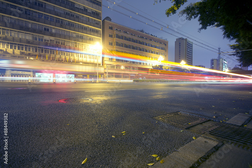 Fototapeta Guangzhou road light trails obraz na płótnie