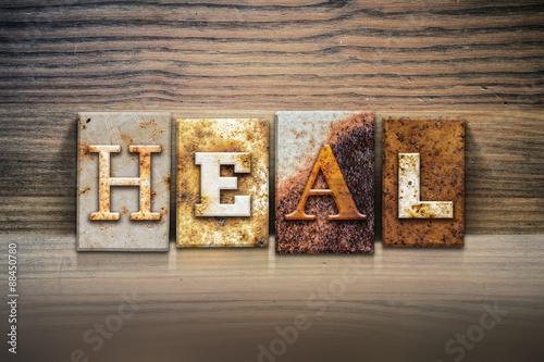 Valokuva  Heal Concept Letterpress Theme