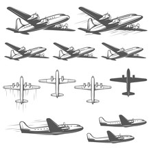 Vintage Airplanes From Differe...