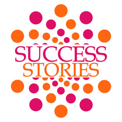 Fototapeta Motywacje Success Stories Pink Orange Dots