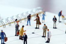 Close Up Of Miniature People W...